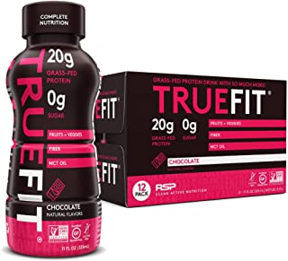 RSP NUTRITION TrueFit - Protein Shake & Meal Replacement, Grass-Fed Protein Drink with Organic Real Food, Probiotics, Zero...