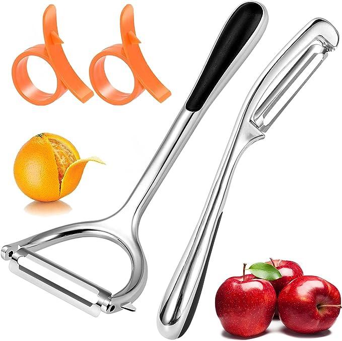 80 opinioni per Pelapatate Professionale Pelapatate Acciaio Inox 2 Pezzi per Mele Frutta Cibo
