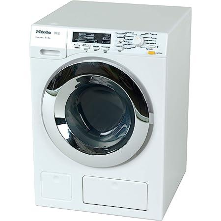 Theo Klein 6941 Lavatrice Miele, Quattro programmi di lavaggio e rumori originali, Funziona con e senza acqua, Dimensioni: 18.5 cm x 26 cm x 18 cm, Giocattolo per bambini a partire dai 3 anni