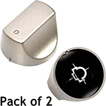 SPARES2GO Hot-Ari ix Control Switch Knobs for Hotpoint Oven Cooker Hob (Silver, Pack of 2)