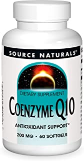 Source Natural Coenzyme Q10 Antioxidant Support 200 mg For Heart, Brain, Immunity, & Liver Support - 60 Softgels