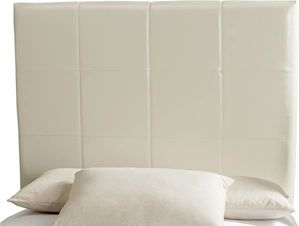 Safavieh Quincy White Leather Box Quilted Upholstered Headboard Twin