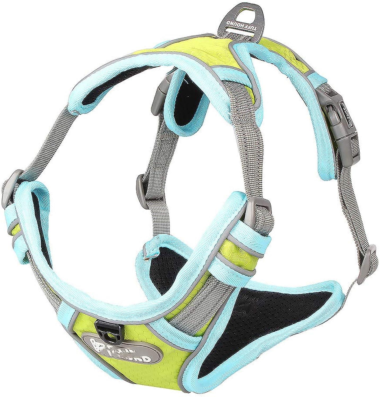 Dog Chest Strap, Pet Vest Comfortable Reflective Durable Breathable Walking The Dog Pet Supplies,bluee,XL