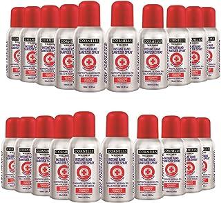 Cornells Wellness Instant Hand Sanitizer Spray, 100ml PACK OF 20, Advanced Formula, IPA 70%, Kills 99.99% of Germs, Antise...