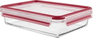 Tefal K3010612 Masterseal Food Keeper/Storage Container, Red/Clear, Glass, 3.0 liter