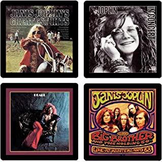 Janis Joplin - Collectible Coaster Gift Set #1 ~ (4) Different Album Covers Reproduced on Soft Pliable Coasters
