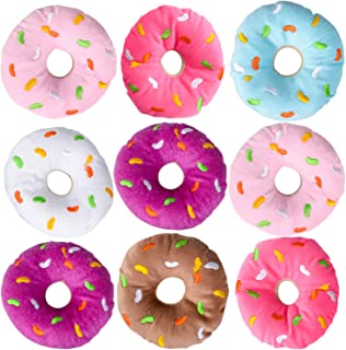 Bedwina Plush Donuts with Sprinkles - (Pack of 12) 1 Dozen Stuffed Donut Pillow Toy Party Favors and Donut Party Supplies Decorations for Kids