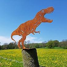 AHURGND Dinozaur sylwetka ogrodowa dekoracyjna, stal nierdzewna dinozaura jard sztuka, rzeźba zwierząt dziedziniec wystró...