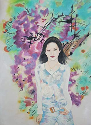 Hand Painted Art Paintings of Chinese Girl Spring Oil Painting on Canvas for Wall Art Decor -55X75 cm