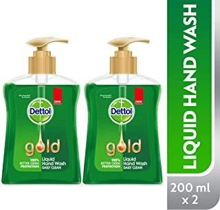 Dettol Gold Daily Clean Anti-bacterial Liquid Hand Wash 200ml Twin Pack
