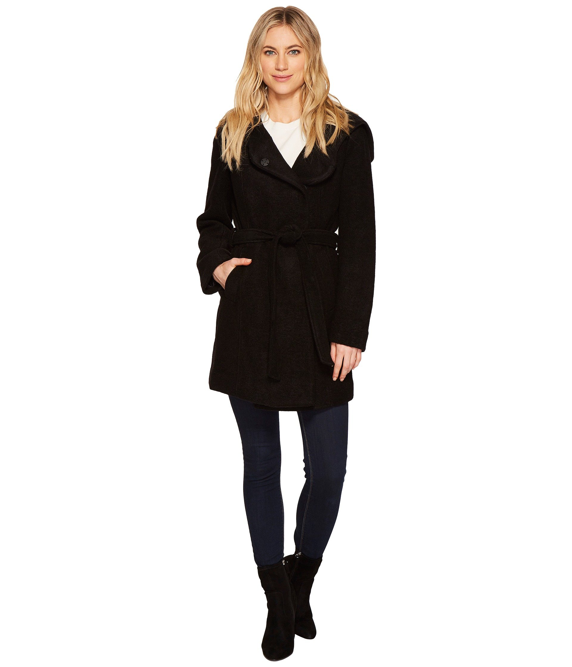 """Flair 31"""" Felted Wool Coat"""