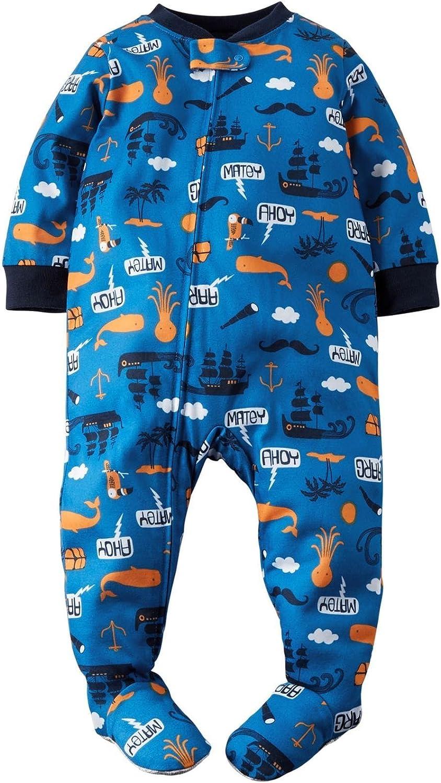 Carter's Little Boys' Graphic Footie (Toddler/Kid) - Sea Animals - 3T