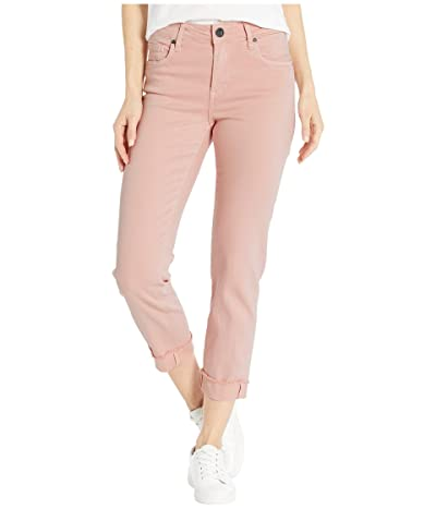 KUT from the Kloth Amy Crop Straight Leg Roll Up Frey in Pink (Pink) Women