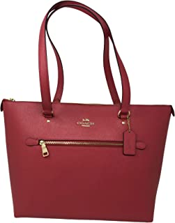 Coach Crossgrain Leather Gallery Tote Shoulder Bag, Poppy