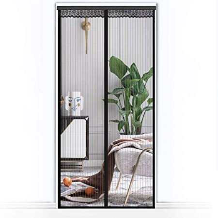 3x Magnetic Net Door Insect Curtain with 18 Magnets selbstschliessend