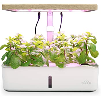 SIMBR Hydroponic Growing System Indoor Herb Garden Kit for 12 Plants, Starter Kit with LED Grow Light, 4L, Fan and Water Pump, Smart Hydroponic Planter for Home Garden