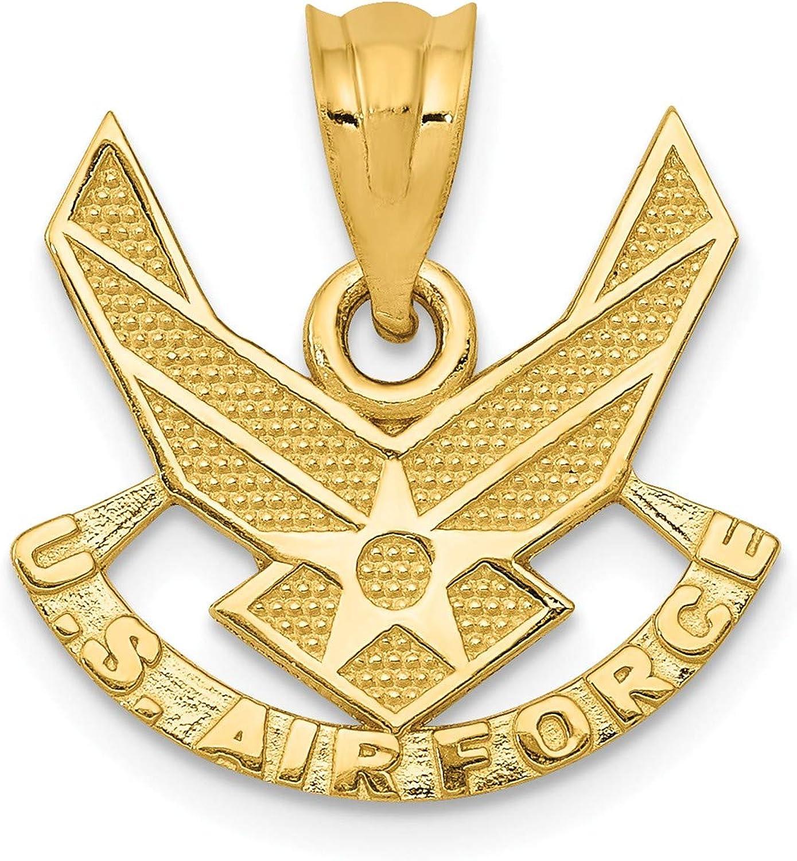 Bonyak Jewelry 14k U. S. Air Force Pendant in 14k Yellow gold