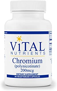 Vital Nutrients - Chromium (Polynicotinate) - Supplement to Support Fat, Cholesterol, and Glucose Metabolism - 90 Vegetari...