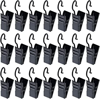 120 pcs Metal Hook Clips, baotongle Hanging Curtain Clips Curtain Hook Clips Hanger Connector Accessories for DIY,Photos,Home Decoration Black