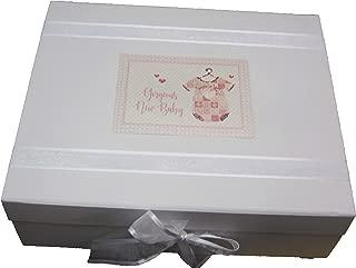 Gran Caja de Recuerdos Junta White Cotton Cards gal/és Color Rosa Conejo 20/x 23/x 10,7/cm beb/é Color Blanco Frambuesa fach