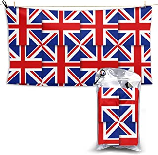 Beach Towels UK British Flag Hand Towel Sheets Bath Linen Fast Dry Blanket Novelty Extra Large Pool Swimsuits Covers Bathroom Washcloths Yoga Mat for Foot,28.7