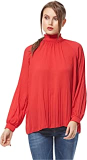 ICHI Blouses For Women, Red - S
