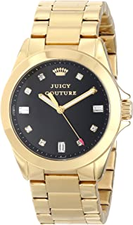 Juicy Couture Womens Quartz Watch, Analog Display and Stainless Steel Strap 1901122