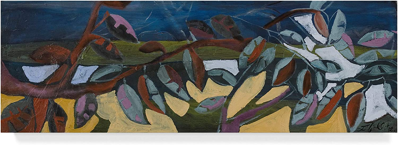 Trademark Fine Art Leaf Panel I by Erin McGee Ferrell, 8x24