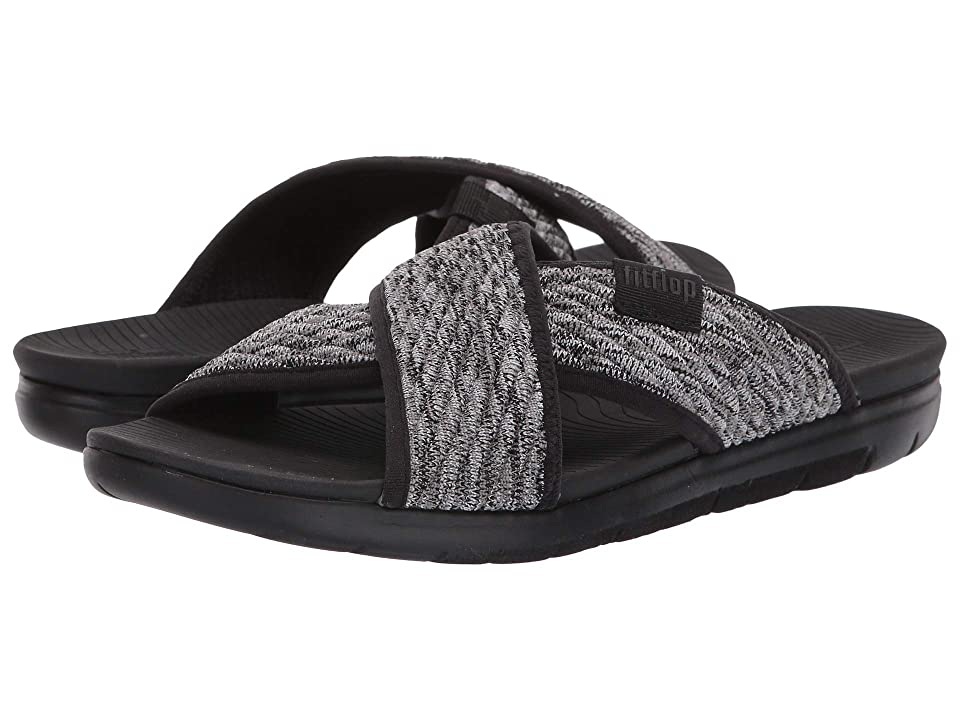 231487a94973 FitFlop Artknit Cross Slide (Black Mix) Women