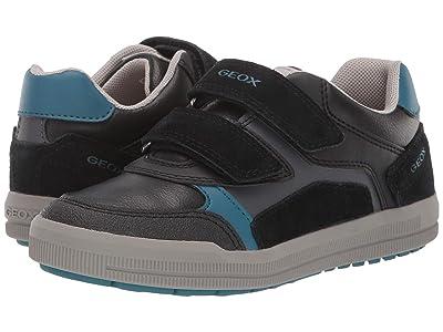 Geox Kids Jr Arzach 17 (Little Kid/Big Kid) (Black/Blue) Boys Shoes