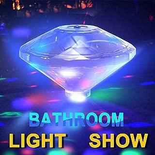 Underwater Bath Light,Floating Lamp LED Disco Aqua Glow Multi Colour Flashing Bathroom Pond Pool Spa Hot Tub Party Night Light Bath Light Up Toy with 7 Pattern Modes