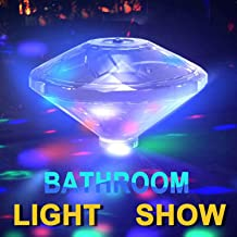 Underwater Bath Light,Floating Lamp LED Disco Aqua Glow Multi Colour Flashing Bathroom Pond Pool Spa Hot Tub Party Night Light Bath Light Up Toy with 7 Pattern Modes