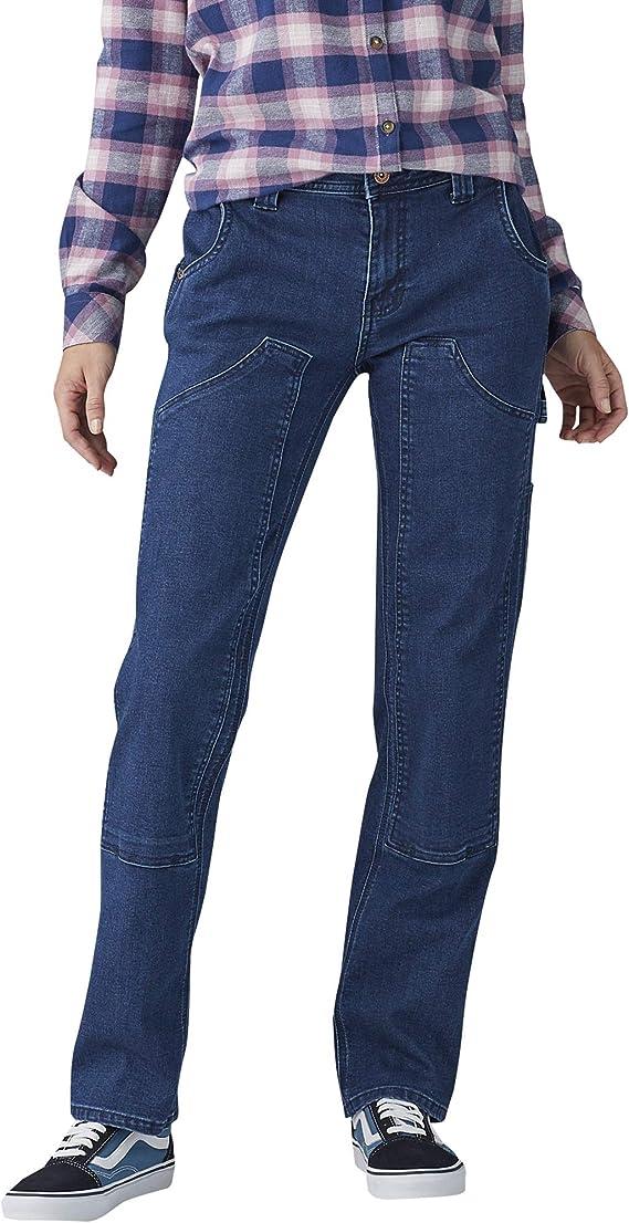 Dickies Pantalones De Mezclilla Rectos Y Elasticos Con Doble Frente Pantalones Utilitarios De Trabajo Para Mujer Amazon Com Mx Ropa Zapatos Y Accesorios