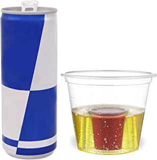 100 Disposable Jager Bomb Shot Glasses - Clear Hard Plastic Bomb Shot Cups - Heavy Duty, Highly Durable and Reusable Shot Glasses - Perfect for Shots, Red Bull & Jagermeister.