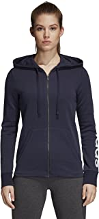 Women's Essentials Linear Full Zip Hoodie Legend Ink/White Large