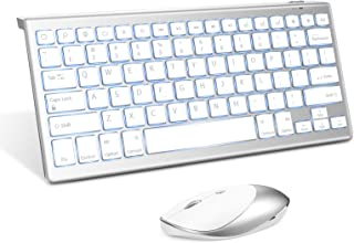 Jelly Comb Backlit Bluetooth Keyboard and 2.4 G+ Bluetooth Mouse Combo for The New iPad 10.2, iPad Air 4/3/2, iPad Pro 10....