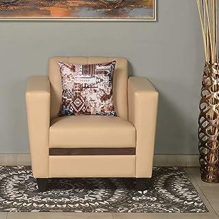 @home By Nilkamal Joy 1 Seater Sofa (Ivory) (FLSFJOY1STRIVORY)