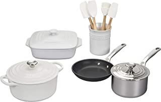 Le Creuset  MS1912-16  Mixed Material Cookware Set, 12-Piece, White