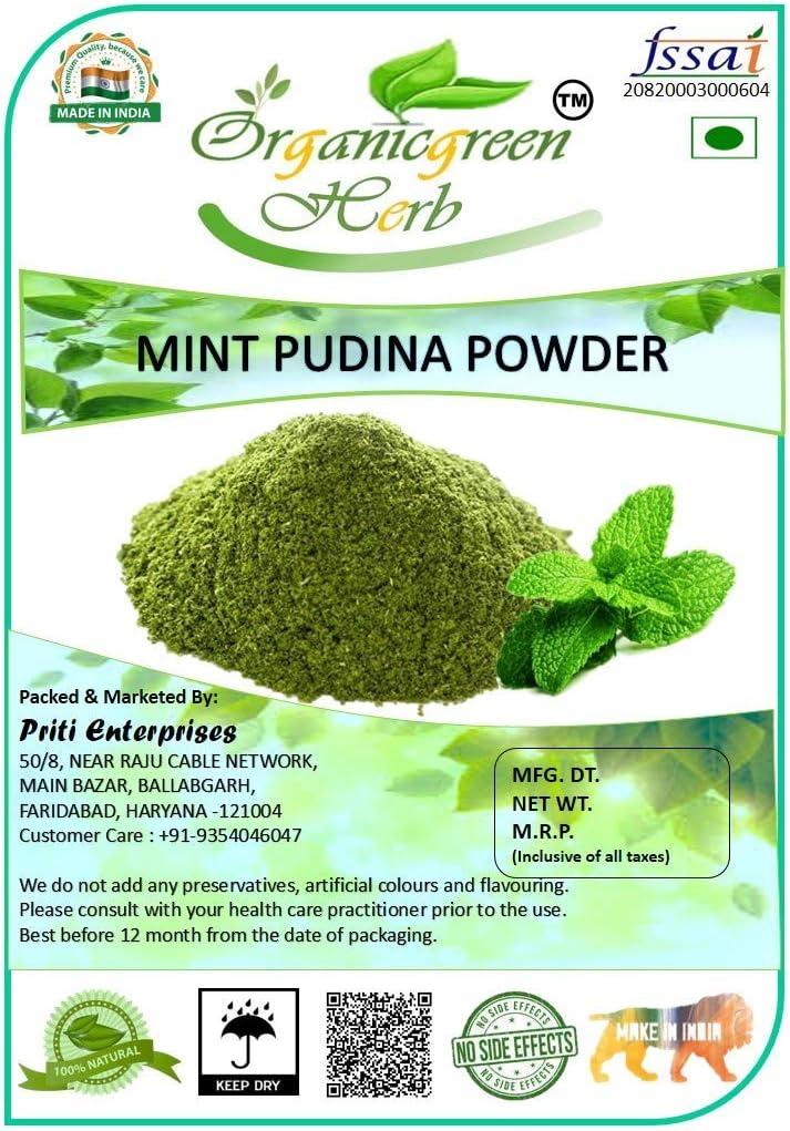 Year-end gift Lendom Organicgreen Herb Mint Pudina 200gms Powder Phoenix Mall Leaves