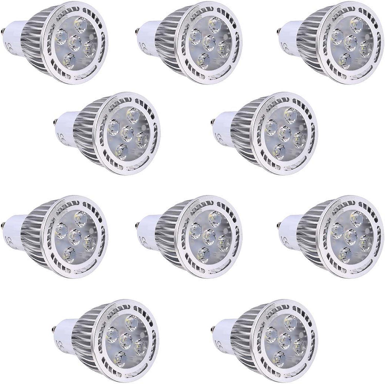 BMY Startseite LED-Lampen, GU10 5W SMD 3030 400-500 LM Warmwei Kühles Wei Klarer LED-Scheinwerfer AC 85-265V AC 220-240V AC 110-130V (10Pcs) Glühlampen (Farbe  220-265V, Gre  kaltwei)