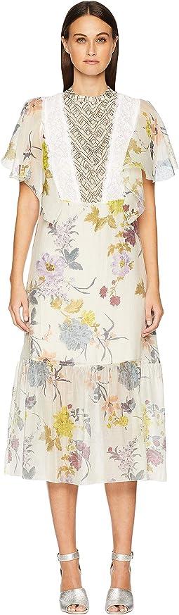 Floral & Lace Midi Dress