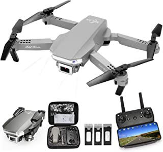 MSLAN M300 RC Drone Kids with 1080P Live Video, Tap Fly,Altitude Hold, Headless Mode,3 Speed Mode, Gravity Sensor,Foldable...