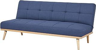 AmazonBasics - Sofá cama de tres plazas, 182 x 80 x 80, Azul oscuro
