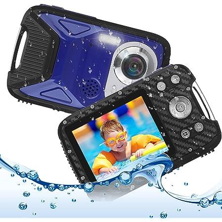 キッズカメラ 子供用 デジタルカメラ 防水 デジカメ 1080P コンパクトカメラ 2.8インチ 子供プレゼント 8倍ズーム/5m水中カメラ/16MP 連写/タイマー撮影/録音/録画/IPS大画面/ストロボ/USB充電/知育 教育おもちゃ 子供/学生/初心者向け
