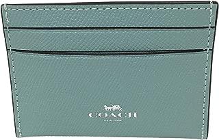 Coach Crossgrain Leather Flat Card Case