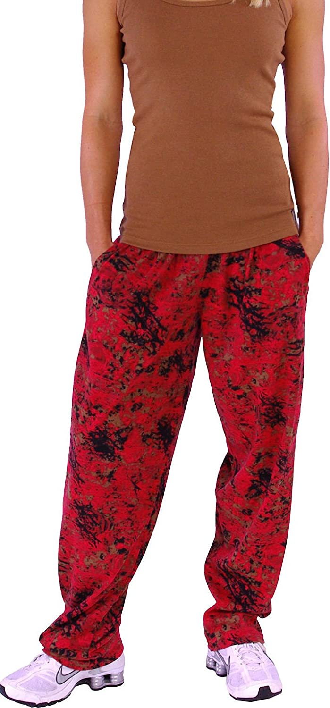 Crazee Wear Baggy Gym Pants Red Burnout Baggies