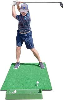 SharperGolf 3' x 5' Premium Quality Golf Practice Hitting Mat, with Large Ball Tray, 3 Alignment Sticks, Training Aid, 12 Practice Balls, 3 Mat Tees