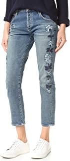 Emerson - Slim Boyfriend Jeans in Vibes Western Roses (Embroidered) - Size 30