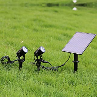LED Solar Landscape Lights, IP65 Waterproof Spot Lights, Outdoor Spotlights, for Garden, Lawn, Patio, Yard, 2 Pack (Color ...