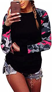 Women Blouse,Camouflage Fall Women Long Sleeve Shirt Casual Blouse Tops Sweatshirt T-Shirt